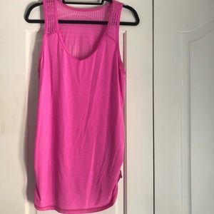 Lululemon size 12 racerback tank with mesh back